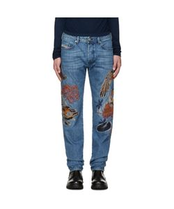 Diesel | Blue Embroidered D-Buster Jeans