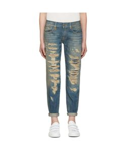 R13 | Blue Relaxed Skinny Jeans