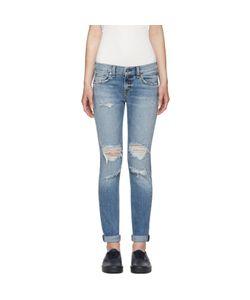 Rag & Bone   Rag And Bone Blue Cuffed Dre Jeans