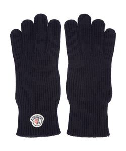 Moncler | Navy Wool Gloves