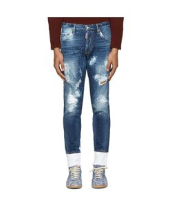 Dsquared2 | Blue Distressed Skinny Jeans