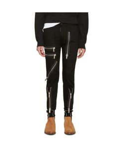 Dsquared2 | Black Zippered Military Jeans