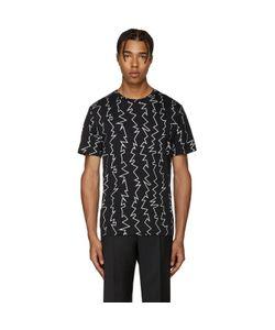 Christopher Kane | Black Zig Zag T-Shirt