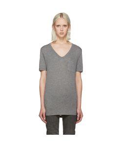 T By Alexander Wang | Grey Jersey Pocket T-Shirt