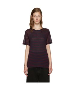T By Alexander Wang | Red And Navy Striped T-Shirt