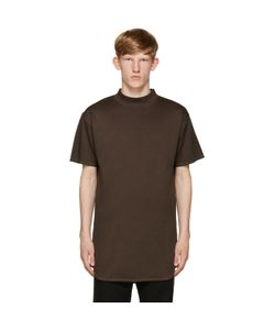 ROBERT GELLER | Brown Mock Neck T-Shirt