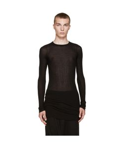 Rick Owens | Black Ribbed T-Shirt