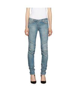 Balmain | Blue Distressed Biker Jeans