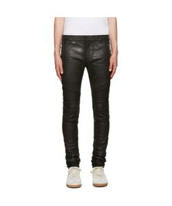 Balmain | Black Coated Super Skinny Jeans