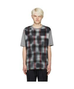 Lanvin | Grey Plaid Front T-Shirt