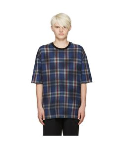Lanvin | Blue Wool Plaid T-Shirt