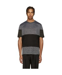 Lanvin | Black Striped Mix T-Shirt