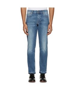 Alexander McQueen | Blue Denim Frayed Jeans