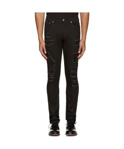 Alexander McQueen | Black Distressed Jeans
