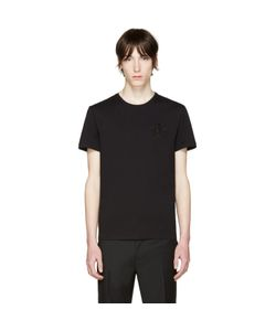 Alexander McQueen | Black Embroidered Skull T-Shirt