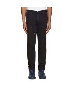 Givenchy | Blue And Black Panel Jeans