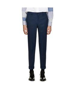 COMME DES GARCONS HOMME PLUS | Comme Des Garçons Homme Plus Navy Wool Striped Trousers