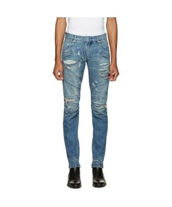 Pierre Balmain | Blue Distressed Biker Jeans