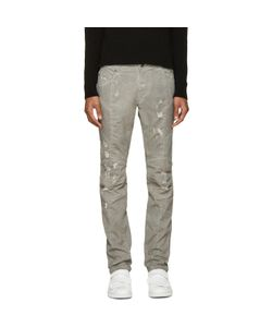 Pierre Balmain | Grey Biker Jeans