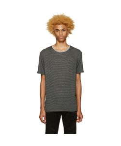 Pierre Balmain | Black And Grey Striped T-Shirt
