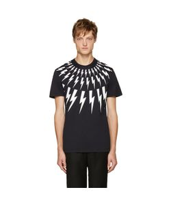 Neil Barrett | Navy Thunderbolt T-Shirt