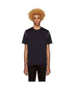 Neil Barrett | Navy Thunderbolt Shoulder T-Shirt