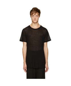 Ann Demeulemeester   Black Ribbed T-Shirt