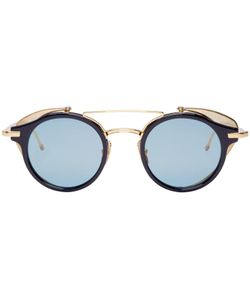 Thom Browne | Navy And Gold Visor Sunglasses