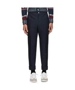 Thom Browne | Navy Unconstructed Chino Trousers