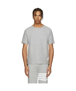 Thom Browne | Grey Rope Stitched T-Shirt
