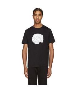 Markus Lupfer | Black Geometric Skull Print T-Shirt