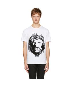 Versus | White Embroidered Lion T-Shirt