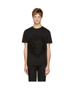 Versus | Black Embroidered Lion T-Shirt