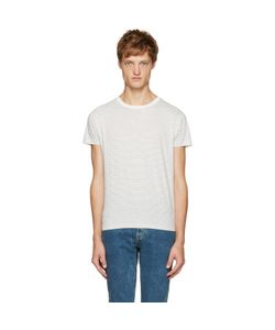 Saint Laurent | White And Black Striped T-Shirt