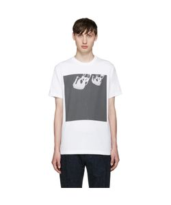 PS PAUL SMITH | Ps By Paul Smith White Upside Down Cyclist T-Shirt