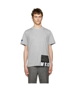 MSGM | Grey Logo Patches T-Shirt
