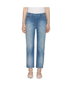 Valentino | Blue Straight-Leg Rockstud Untitled Jeans