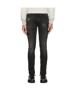 MARCELO BURLON COUNTY OF MILAN | Black Distressed Jeans