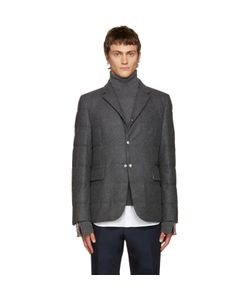 Moncler Gamme Bleu | Grey Wool Quilted Down Blazer