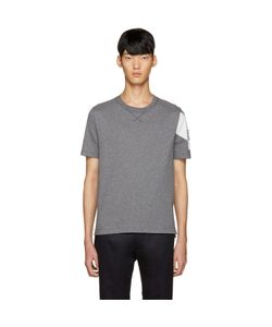 Moncler Gamme Bleu | Grey Detailed Sleeve T-Shirt