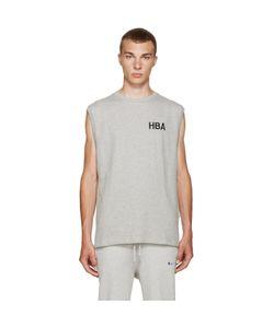 HOOD BY AIR | Grey Logo Tank Top