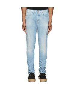 OFF-WHITE | Blue Brushed Diagonals Jeans