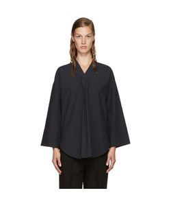 NOMIA | Navy V-Neck Blouse