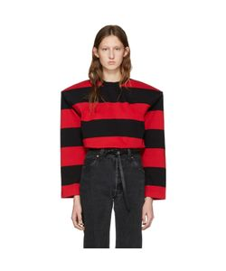 VETEMENTS | Black And Red Football Shoulder T-Shirt