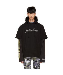 VETEMENTS | Black Justin Forever Double Sleeve Hoodie