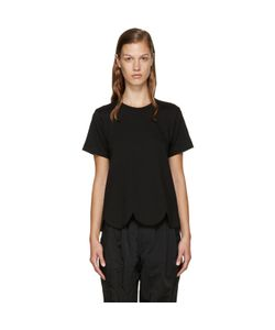 COMME DES GARCONS COMME DES GARCONS | Comme Des Garçons Comme Des Garçons Black Scalloped T-Shirt