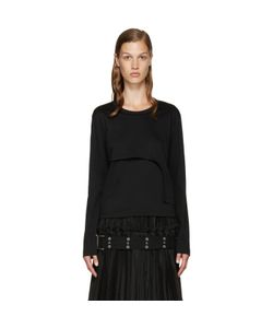 Noir Kei Ninomiya | Black Asymmetric Layered T-Shirt