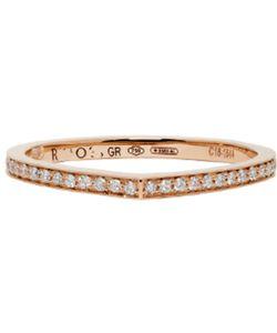 REPOSSI | Rose Gold Full Pavé Antifer Ring