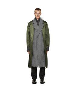 TOGA VIRILIS | Green Nylon Layered Coat