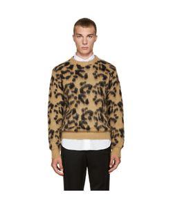 TOGA VIRILIS | Tan Mohair Leopard Sweater